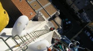 Travaux acrobatiques à la Cathédrale de Gap