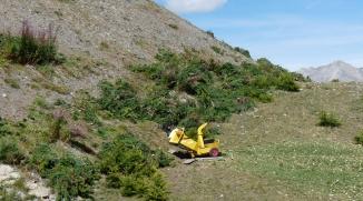 Broyeur en montagne à la casse du boeuf